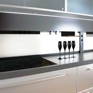 Mensole In Vetro Luminose.Mensola In Vetro K Glass Shelf By L S Per Pannello K Concept