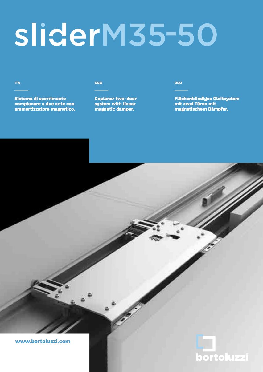 Guide Ante Scorrevoli Complanari.Sistema Scorrevole Complanare Slider M35 Bortoluzzi Con Video Aelle