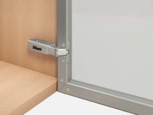 clip on ante telaio in alluminio
