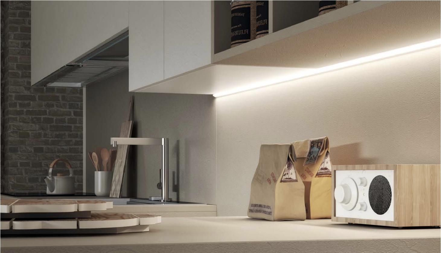 Plafoniere Slim Led Caldak : Led sottopensile luce calda barra cucina